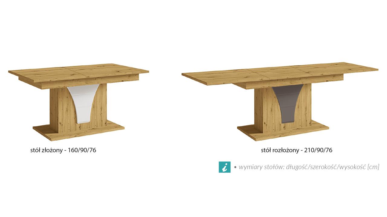 stoły OPERA wymiary